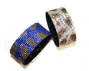 Diamante bling crystal cuff bracelet kits -- Leopard print design